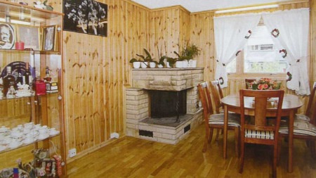 Her er en stue før den ble stylet.
