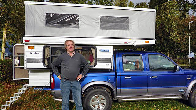 Frode Stiansen er på alle måter en happy camper. Wildcaten hans er trolig den første og så langt eneste i Norge. Foto: Privat (Foto: Picasa)