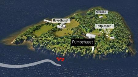 Ekteparet Wettre oppdaget ungdommene på nordsiden av Utøya, ikke langt fra pumpehuset.   (Foto: TV 2)