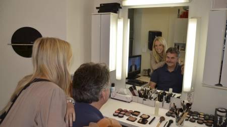 Fronter Movember: Ambassadør og sportsanker Thea Olsen og kommentator   Harald Bredeli går gjennom hele november i bresjen for et økt fokus på   herresykdommer. (Foto: Pål Magnus Tømmervold/)