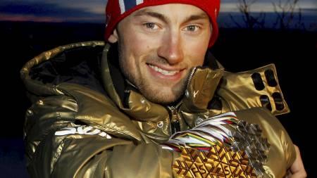 Petter Northug jr. vant tre gull og to sølv i ski-VM. (Foto:   DANIEL SANNUM LAUTEN/Afp)