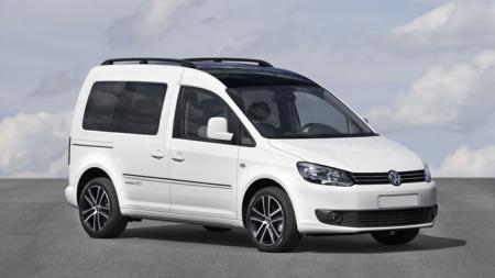 VW Caddy, her i en sporty spesialutgave, er Norges suverent mest solgte varebil.