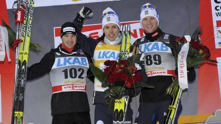 Dario Cologna, Marcus Hellner og Daniel Rickardsson skal alle utfordre Petter Northug jr. denne sesongen. (Foto: Sandberg, Fredrik/Scanpix)