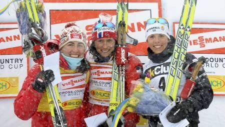 Trioen Kowalczyk, Bjørgen og Kalla kommer til å dominere igjen, tror Hjelmeset. (Foto: Wiklund, Anders/SCANPIX)