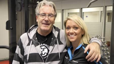 STRAMMERE UTGAVE: Davy Wathne har tatt grep og endret både mat- og treningsvaner med Sporty-ekspert Siri Marte Hollekims hjelp. Det gir resultater. (Foto: Nina Kausland/)