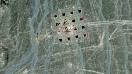 Merkelige strukturer i Kina (Foto: Google maps)