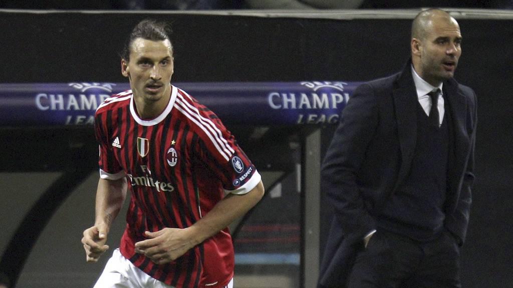 Guardiola og Zlatan (Foto: Luca Bruno/Ap)
