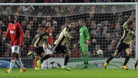 Manchester United - Benfica (Foto: ANDREW YATES/Afp)