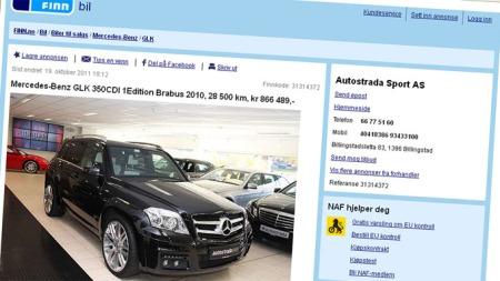 Mercedes GLK-annonse
