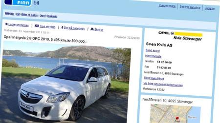 Opel OPC-annonse