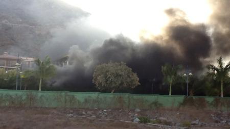 FLERE SKADD: I alt seks personer fikk alvorlige skader etter eksplosjonen ved det populære hotellet på Gran Canaria. (Foto: Grete Nygren Lohne)