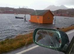 Steine i Lofoten fredag. (Foto: Simon Waag)