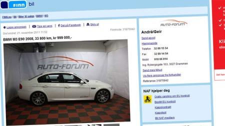 BMW-M3-annonse