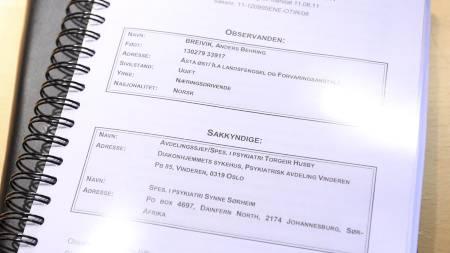 RAPPORTEN: Denne rapporten konkluderer med at Anders Behring Breivik er psykisk syk. (Foto: Scanpix/)