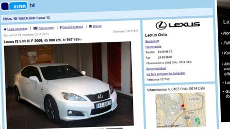 Lexus-IS-F-annonse