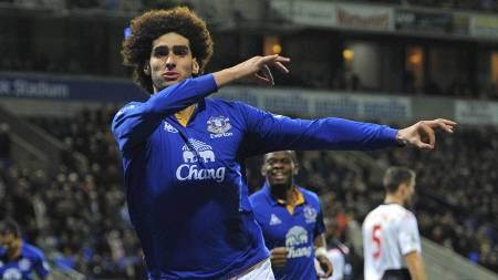 Marouane Fellaini og Everton bør få mer å juble for på Brittania i kveld (Foto: ANDREW YATES/Afp)
