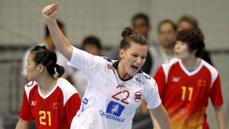 FERDIG I LARVIK: Amanda Kurtovic forlater Larvik etter sesongen. (Foto: Kallestad, Gorm/Scanpix)