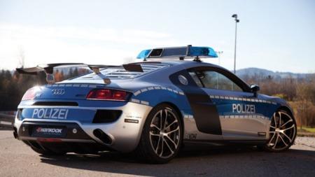Audi R8 som politibil.