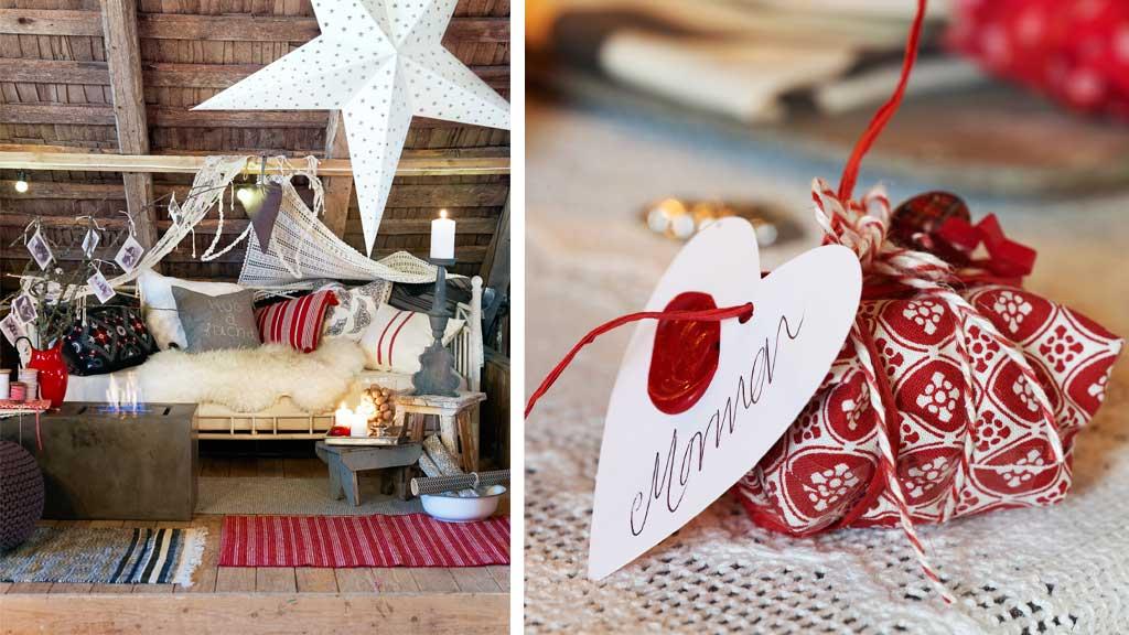 Bli med inn på låven til Norges vakreste hjem. Den er pyntet og klar for julefest! (Foto: Sveinung Bråthen)