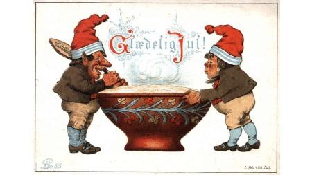 Dette julekortet er det eldste julekortet i Norsk Folkemuseums   samling. Det er fra 1885.
