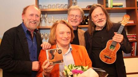 Gitarkameratene er en norsk supergruppe bestående av de fire visesangerne Halvdan Sivertsen, Jan Eggum, Øystein Sunde og Lillebjørn Nilsen.  (Foto: Stine Eriksen)