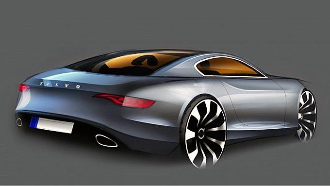 """Dette er hvordan designsjefen på Volvos """"trendmonitor-avdeling"""" i USA ser for seg en moderne P1800, 50 år etter at originalen kom. Hva mener du om ideen? Design: Chris Benjamin"""