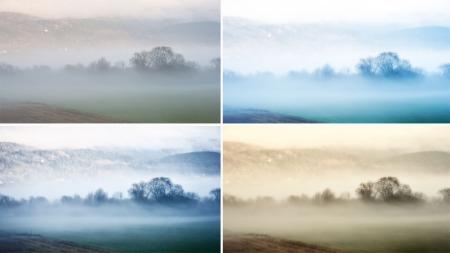 Ved enkle grep kan man gjøre mye med et bilde. Dette landskapsbildet er tatt sent i oktober, omtrent idet solen går ned og tåken kommer rullende inn.  (Foto: Eivind Røhne)