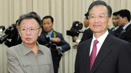 Kim Jong-il og Hu Jintao  (Foto: AP)