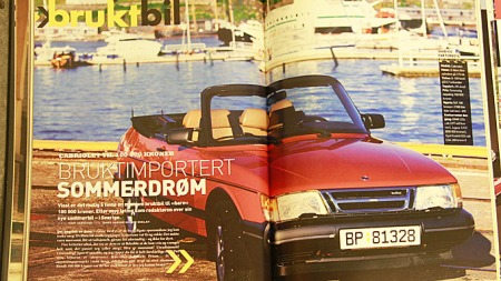 Jeg har vært Saab-eier selv også, her er reportasjen jeg laget på min egen Saab-cabriolet da jeg var redaktør i bladet Autofil for noen år tilbake.