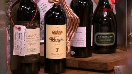 Valpolicella Ripasso, Muga Rioja,  Smith Woodhouse portvin og en Ca'Bertaldo prosecco.