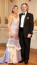 PÅ SLOTTET: Märtha Louise og ektemannen Ari Behn på prinsessens   40-årsdag. (Foto: Dmitry K.Valberg, RB/ANB, ©ps)