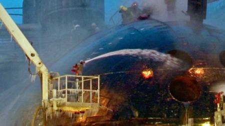 Murmansk ubåtbrann (Foto: AP)