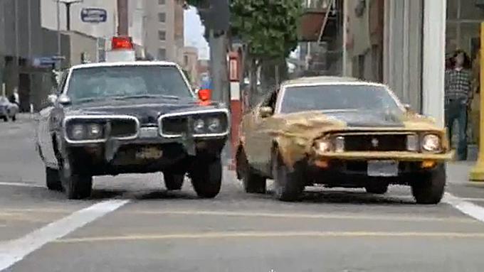 """Tenker du på en grå Shelby-replika når du hører """"Gone in 60 Seconds""""? Da har du bare fått med deg remake´n fra 2000. Dette er den virkelige """"Eleanor"""" fra den opprinnelige filmen fra 1974 - og har du ikke sett den, så har du noe å glede deg til. Foto: Imcdb.org"""