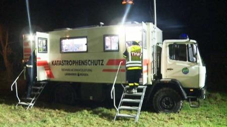 106 personer deltar i leteaksjonen etter den tyske jenta som var på ferie i området. (Foto: RTL)