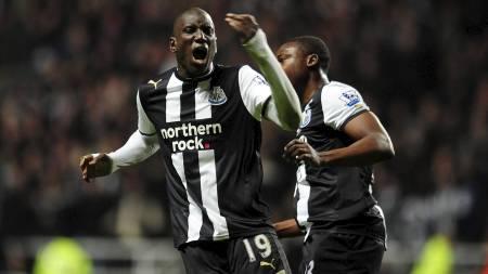 Demba Ba og Newcastle får Manchester United på besøk på Sports Direct Arena. (Foto: Owen Humphreys/Pa Photos)