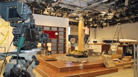 Sånn så det ut i God morgen Norges studio 30. desember 2011.   Her er det ngen tvil om at det er forandringer på gang... (Foto: Stine   Eriksen)