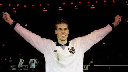 KONGEN AV WEMBLEY: Kjetil Rekdal scoret et fantastisk mål og sørget for et sterkt norskt resultat borte mot England. (Foto: Eeg, Jon/NTB scanpix)