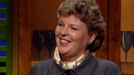 Wenche Andersen fra hennes aller første God morgen Norge sending   i 1994 (Foto: God morgen Norge)
