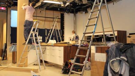 Wenche kan forvente seg et nytt kjøkken når hun er tilbake på   jobb 3. januar 2012. (Foto: Stine Eriksen)