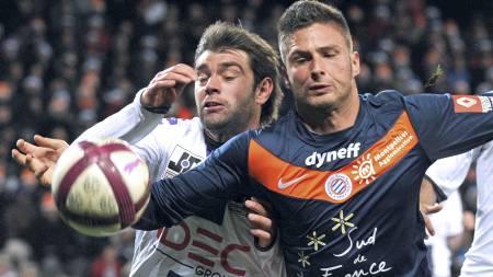 ETTERTRAKTET: Montpellier's Olivier Giroud. (Foto: PASCAL GUYOT/Afp)