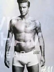 KASTET DRAKTEN: Beckham har frontet flere undertøyskolleksjoner. Her for HM.