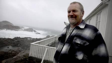 VANT TIL RUSKEVÆR: Kjell Olsen er fyrvokter på Lindesnes fyr.   (Foto: Schrøder, Tor Erik/Scanpix)