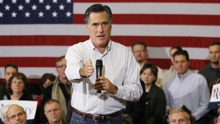 FAVORITT: Mitt Romney får støtte fra tidligere president George   H.W. Bush. Jan Arild Snoen mener også han er storfavoritt til å bli republikanernes   presidentkandidat. (Foto: Reuters)