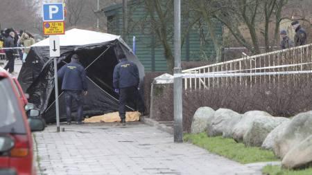 Tre kvinner er pågrepet etter at mann ble drept i Malmö på dette stedet i begynnelsen av januar. (Foto: DRAGO PRVULOVIC/NTB scanpix)