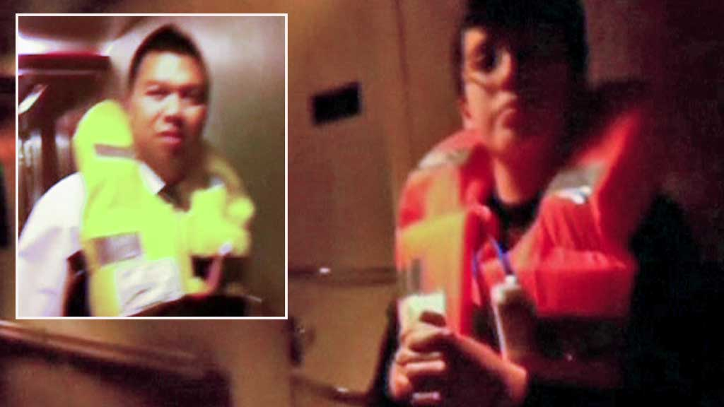 TOTAL FORVIRRING: Amatørvideo avslører feil og mangelfull informasjon til passasjerene om bord på «Costa Concorde» (Foto: RAI/Privat)