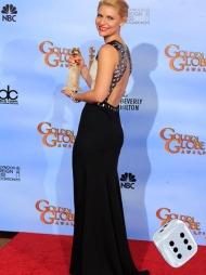 BAR RYGG SOM SA SEKS: Vakre Claire Danes ser både elegant og sexy ut i denne kjolen med åpen rygg fra J. Mendel.