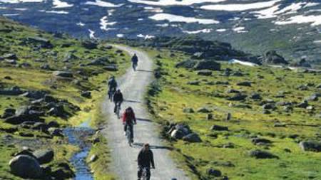 Bergen Turlag tilbyr hytteturer med gratis fjellguide. (Foto: DNT/)