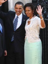 PASTELL: Førstedame Michelle Obama bruker gjerne sterke farger,   men er også tilhenger av de mer duse variantene som sukkertøy og mint   - forøvrig en av våren og sommerens store trender.