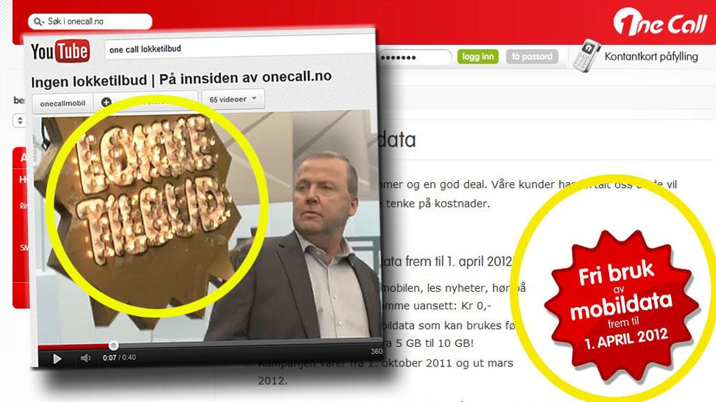 lokketilbud (Foto: Faksimile YouTube/One Call)