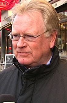 DROPPER ANMELDELSER: Administrerende direktør i Oslo Handelsstands Forening, Gunnar Larssen, forteller at mange av deres medlemmer har sluttet å anmelde naskeri og tyveri. (Foto: TV 2)